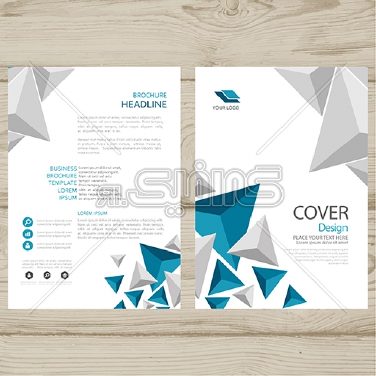 2.Abstract brochure template preview